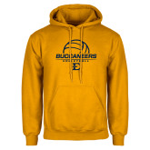 Gold Fleece Hoodie-Volleyball on Top