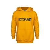 Youth Gold Fleece Hood-ETSU w/ Buccaneer Head