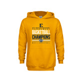 Youth Gold Fleece Hoodie-2017 Southern Conference Tournament Mens Basketball Champions Stacked