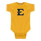 Gold Infant Onesie-E - Offical Logo