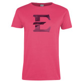 Ladies Fuchsia T Shirt-E - Offical Logo Foil
