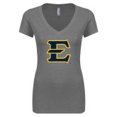 Next Level Ladies Vintage Heather Tri Blend V Neck Tee-E - Offical Logo