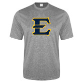 Performance Grey Heather Contender Tee-E - Offical Logo