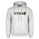 White Fleece Hoodie-ETSU w/ Buccaneer Head
