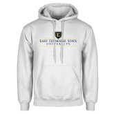 White Fleece Hoodie-East Tennessee University - Institutional Mark