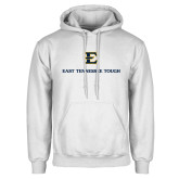 White Fleece Hoodie-East Tennessee Tough Stacked