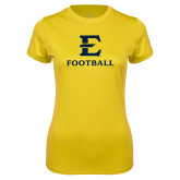 Ladies Syntrel Performance Gold Tee-E Football