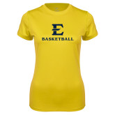 Ladies Syntrel Performance Gold Tee-E Basketball
