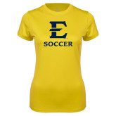 Ladies Syntrel Performance Gold Tee-E Soccer