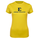 Ladies Syntrel Performance Gold Tee-E Cross Country