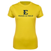 Ladies Syntrel Performance Gold Tee-E Track and Field