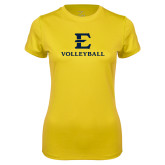 Ladies Syntrel Performance Gold Tee-E Volleyball