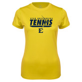 Ladies Syntrel Performance Gold Tee-Tennis Arrow