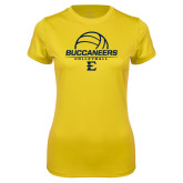 Ladies Syntrel Performance Gold Tee-Volleyball on Top