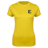Ladies Syntrel Performance Gold Tee-E - Offical Logo
