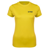 Ladies Syntrel Performance Gold Tee-ETSU