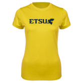 Ladies Syntrel Performance Gold Tee-ETSU w/ Buccaneer Head
