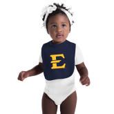 Navy Baby Bib-E - Offical Logo