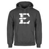 Charcoal Fleece Hoodie-E - Offical Logo