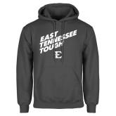 Charcoal Fleece Hoodie-East Tennessee Tough Slant