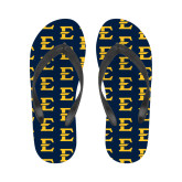 Ladies Full Color Flip Flops-E - Offical Logo