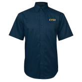 Navy Twill Button Down Short Sleeve-ETSU