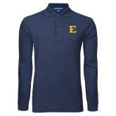 Navy Long Sleeve Polo-E - Offical Logo