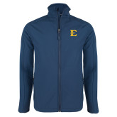 Navy Softshell Jacket-E - Offical Logo