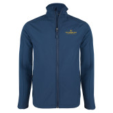 Navy Softshell Jacket-East Tennessee University - Institutional Mark
