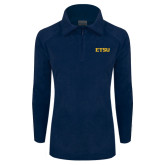 Columbia Ladies Half Zip Navy Fleece Jacket-ETSU