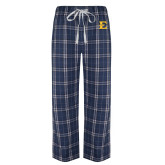 Navy/White Flannel Pajama Pant-E - Offical Logo