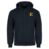 Navy Fleece Hoodie-E - Offical Logo