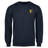 Navy Fleece Crew-E - Offical Logo