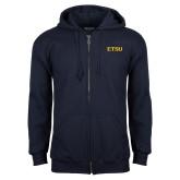 Navy Fleece Full Zip Hoodie-ETSU