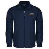 Full Zip Navy Wind Jacket-ETSU