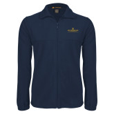 Fleece Full Zip Navy Jacket-East Tennessee University - Institutional Mark