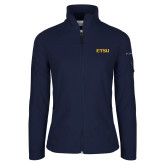 Columbia Ladies Full Zip Navy Fleece Jacket-ETSU