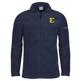 Columbia Full Zip Navy Fleece Jacket-E - Offical Logo