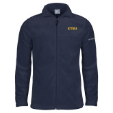 Columbia Full Zip Navy Fleece Jacket-ETSU
