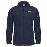Columbia Full Zip Navy Fleece Jacket-ETSU