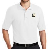 White Easycare Pique Polo-E - Offical Logo