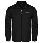 Full Zip Black Wind Jacket-East Tennessee University - Institutional Mark