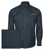 Red House Deep Blue Herringbone Long Sleeve Shirt-East Tennessee University - Institutional Mark