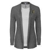 Ladies Heather Grey Open Front Cardigan-E - Offical Logo