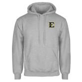 Grey Fleece Hoodie-E - Offical Logo