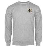 Grey Fleece Crew-E - Offical Logo