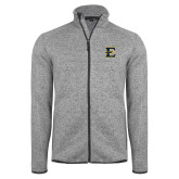 Grey Heather Fleece Jacket-E - Offical Logo