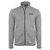 Grey Heather Fleece Jacket-ETSU