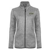 Grey Heather Ladies Fleece Jacket-ETSU