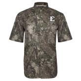 Camo Short Sleeve Performance Fishing Shirt-E - Offical Logo